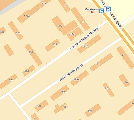 Улица Аксаковская на карте Самары