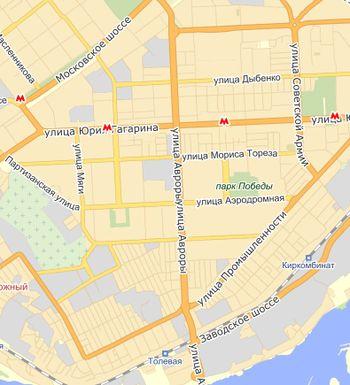 Улица Авроры на карте