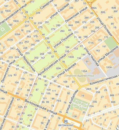 К какому району относиться улица демократическая самара