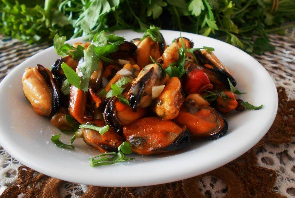 Жареные блюда из морепродуктов